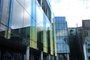 Modern building side